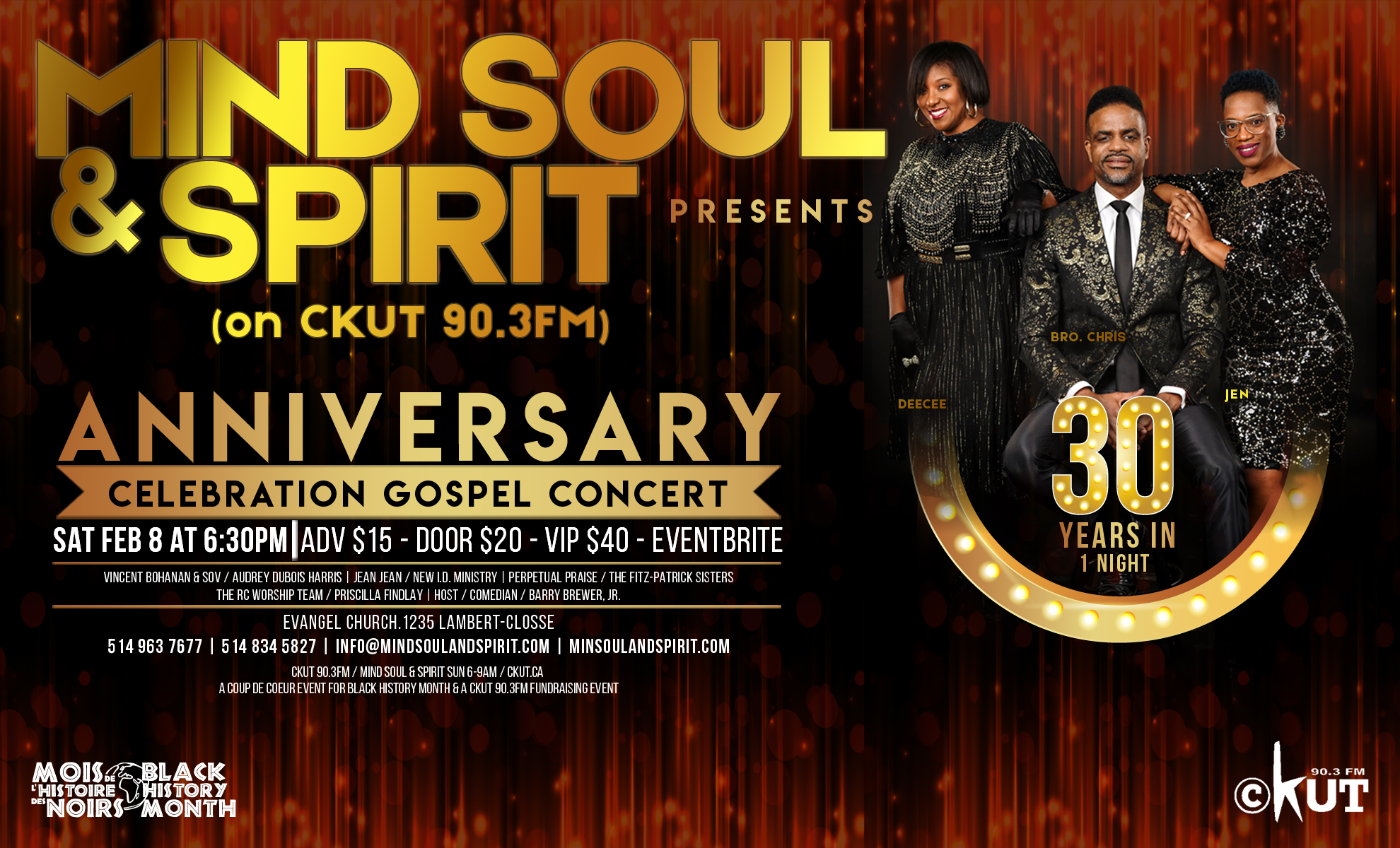 30 Years In 1 Night: Mind Soul & Spirit 30th Anniversary Gospel Celebration Concert