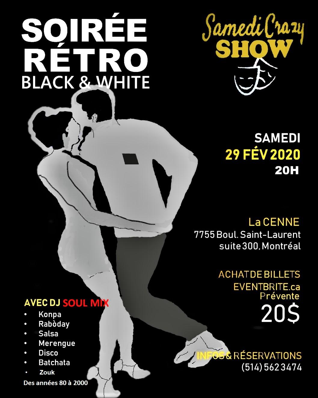 Soirée Rétro Black & White