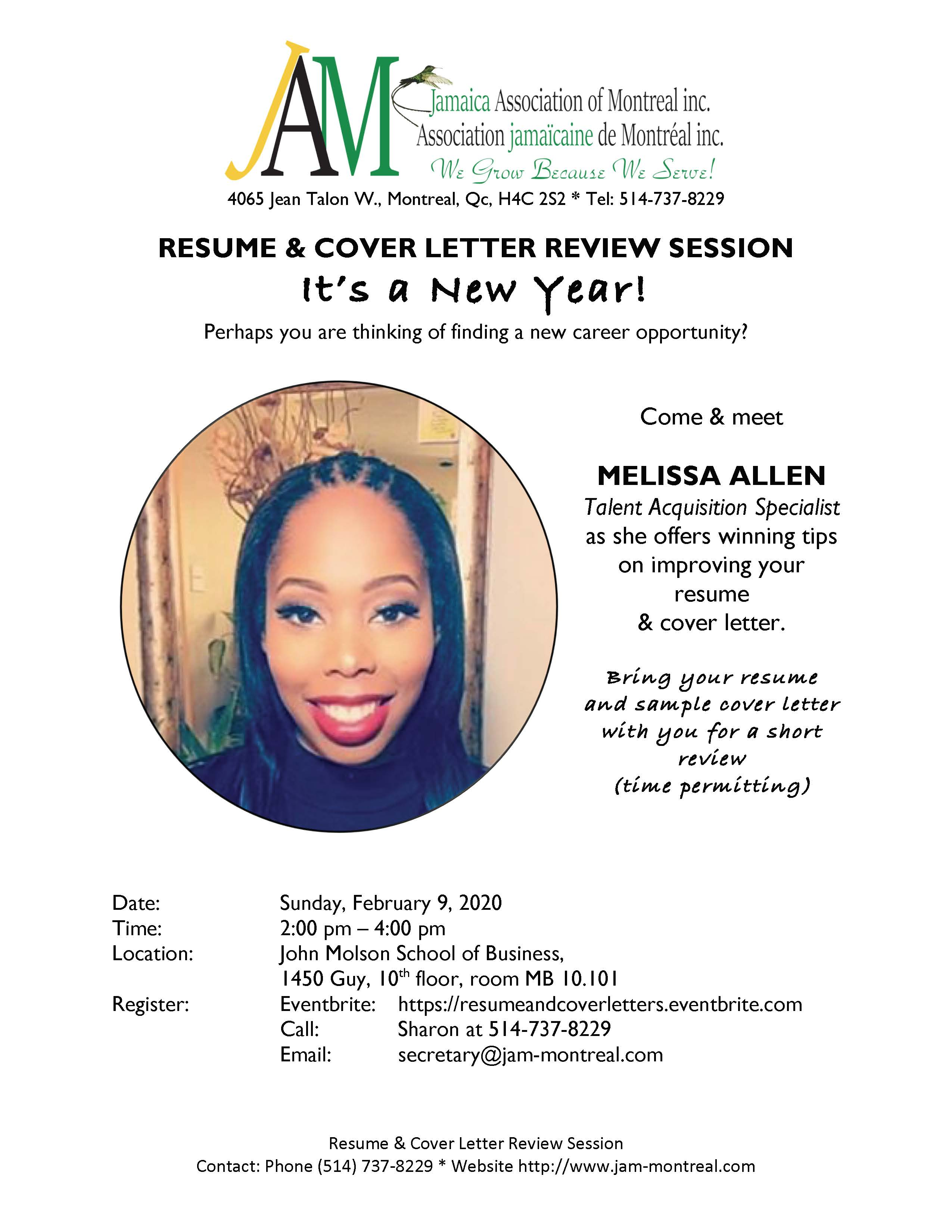 RESUME & COVER LETTER REVIEW SESSION