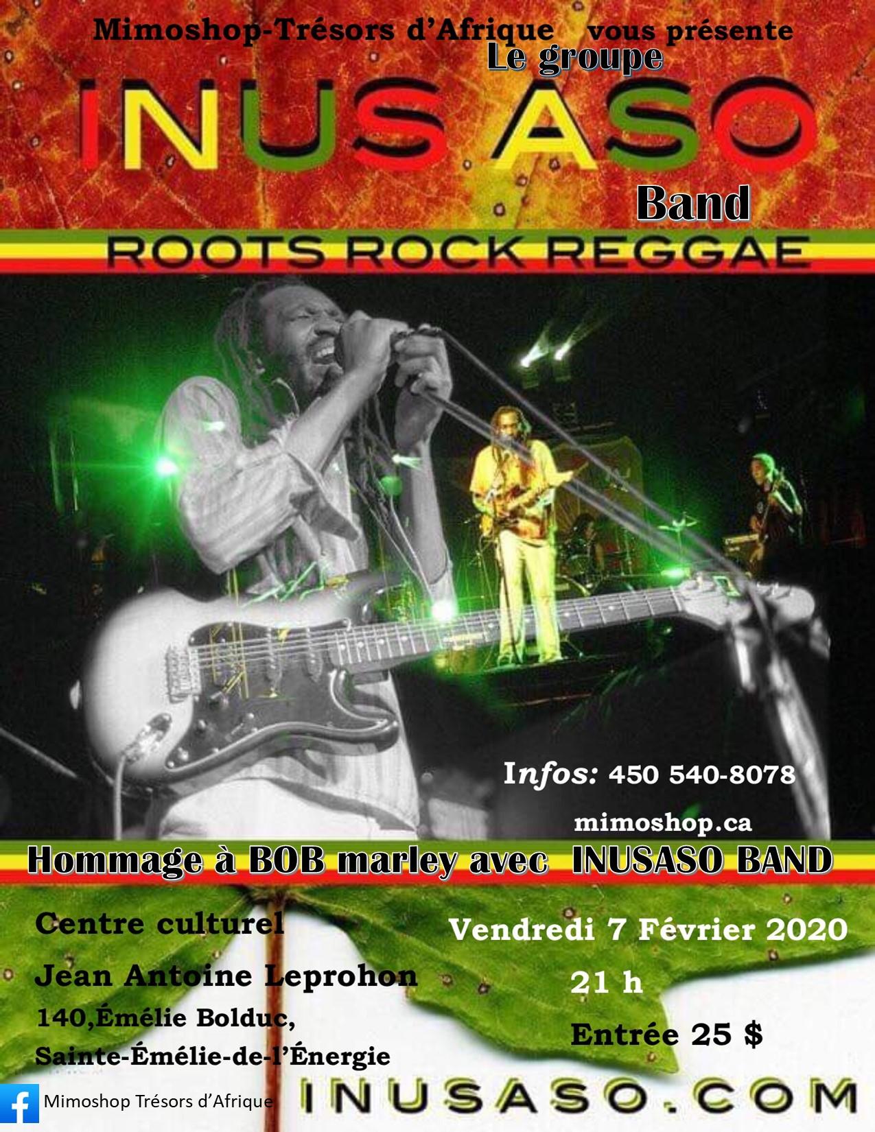 Hommage  à Robert Nesta (Bob) Marley  avec INUS ASO band