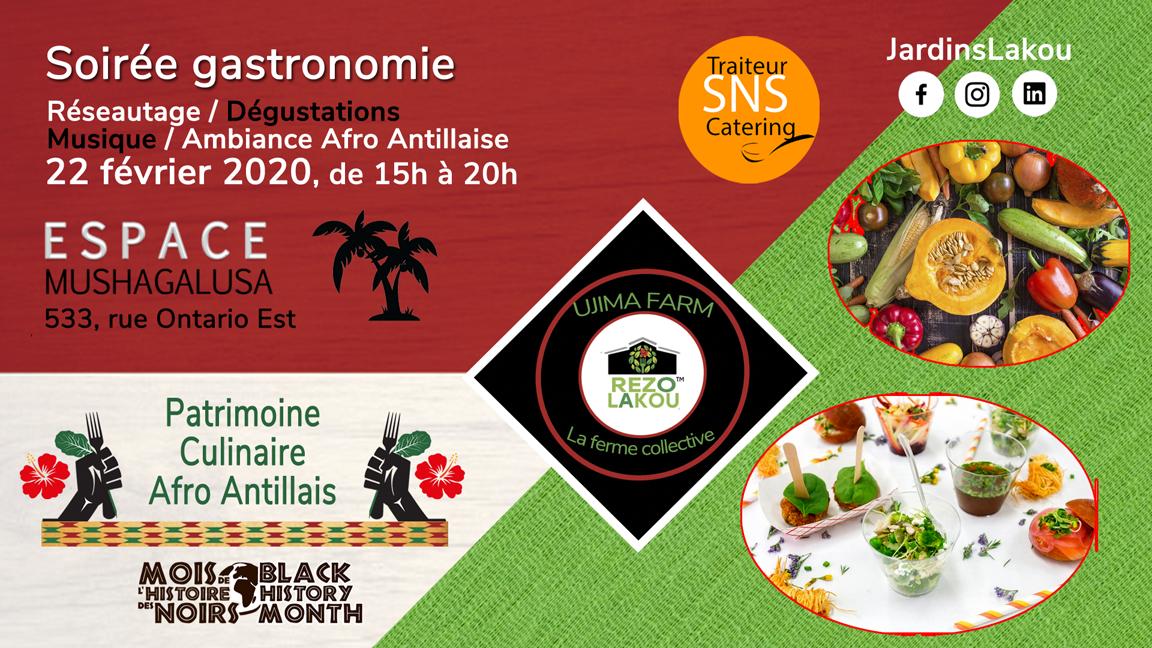 Soirée gastronomie - Patrimoine culinaire afro-antillais
