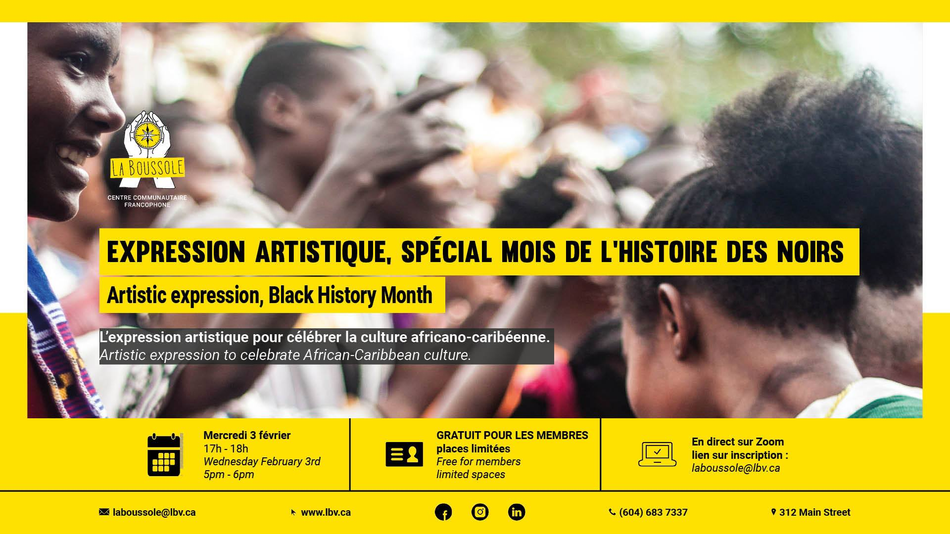 Mois de l'Histoire des Noir.es - expression artistique