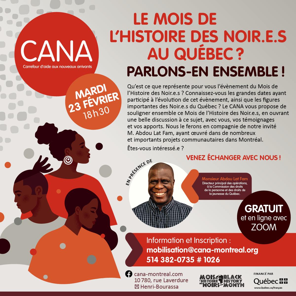 Le Mois de l'histoire des Noir.e.s au Québec, parlons-en ensemble !